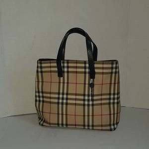 Burberry london coated canvas tote